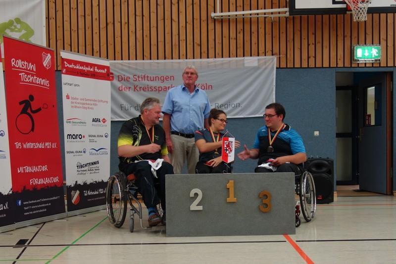 Marcel Miss holt Platz 3 beim Deutschlandpokalturnier der Rollstuhltischtennis-Spieler