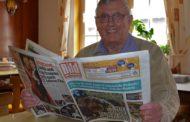 Seltenes Jubiläum - Willi Linker trägt seit 50 Jahren die Bild am Sonntag aus in Erksdorf