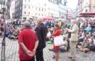 DIE LINKE rockt Marburger Marktplatz